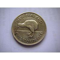 Новая Зеландия (Георг V) 1 Флорин 1933 г./ Птица Киви / серебро