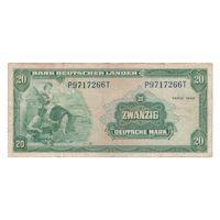 Германия ФРГ 20 марок 1949 года. Состояние VF! Редкая!