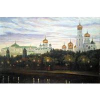 Вечерняя Москва.Картина-холст,масло