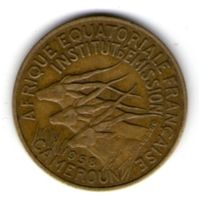 Камерун Французский 10 франков 1958 года.