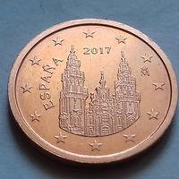 2 евроцента, Испания 2017 г., AU