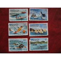 Марка водные виды спорта Гренада 1977 год