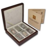 """RARE Армения 1000 драм 2011г. Полный набор: """"Хачкары"""". Монеты в капсулах; деревянном подарочном футляре; сертификат; коробка. СЕРЕБРО 6х25г."""