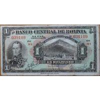 Боливия 1 боливиано 1928г.