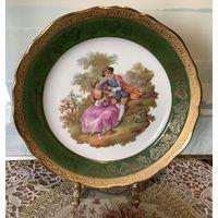 Тарелка коллекционная Свидание Лимож Фрагонар 25 см богатая позолота