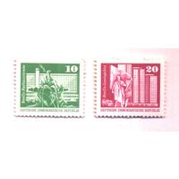 ГДР 1973 Michel 1868 - 1869  MNH Стандарт Архитектура Ленин Посейдон **\\11