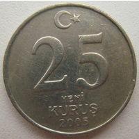 Турция 25 куруш 2005 г.