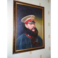 Большая картина - портрет Царя Императора Александра 2 в красивой раме