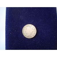 Монета 5 центов США, 1905 г.