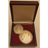Футляр для 2 монет с ложементом на 2 ячейки D 58.00 мм и 37.00 мм деревянный