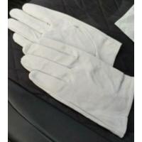 Перчатки белые  кожанные парадные