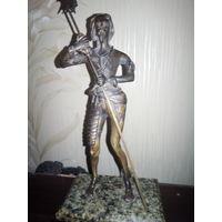 """Бронзовая скульптура """"Рыцарь"""". Старинная 17 век ?!!"""