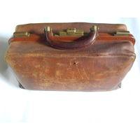 Докторский саквояж кожаный. Начало XX века. 100% оригинал.