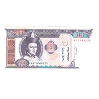 Монголия 100 тугриков 2008 года. Состояние аUNC!