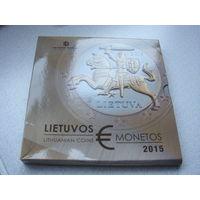 Официальный набор монеты евро Литвы 2015
