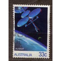 Космос. Телекоммуникационный спутник. Австралия. 1986