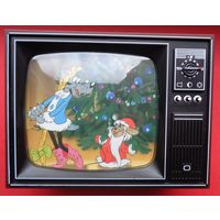 """2* 2 доллара Ниуэ! Полный набор """"Ну, Погоди!""""! Цветные! 2011! ВЕЛИКОЛЕПНЫЙ ПОДАРОК! Футляр-телевизор! Серебро 999 пробы! ВОЗМОЖЕН ОБМЕН!"""