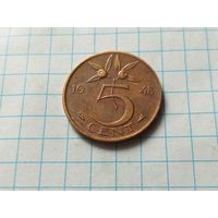 Нидерланды 5 центов, 1948