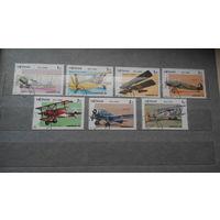 Самолеты, авиация, транспорт, техника, воздушный флот, марки, Вьетнам, 1986