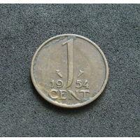 Нидерланды 1 цент 1954