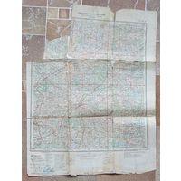 Карта РККА 5 км в см Лист N-35-А Вильнюс 1942 год
