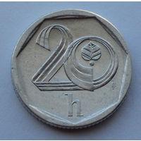 Чехия 20 геллеров. 1998