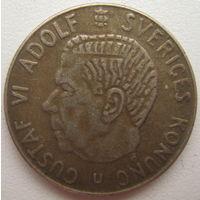 Швеция 1 крона 1967 г. Серебро