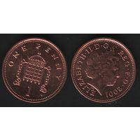 Великобритания _km986 1 пенни 2001 год (обращ) km986 магнит (h01)