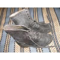 Берцы 43р-р, ботинки, кожаные