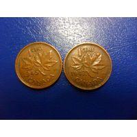 Канада 1 цент 1945 г.-цена за монету