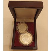 Футляр для 2 монет с капсулами 44.00 мм и 37.00 мм деревянный