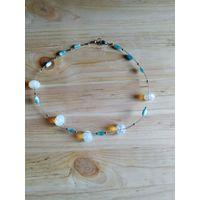 Ожерелье с лунным камнем