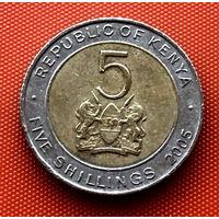 113-16 Кения, 5 шиллингов 2005 г.