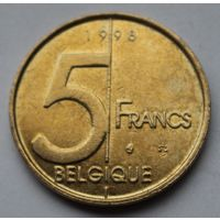 Бельгия 5 франков, 1998 г. 'BELGIQUE'