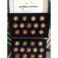 Либерия.12 долларов.Полный Комплект.26 монет.Города Столицы Европы.Золото.2008 года.Тираж-2000.