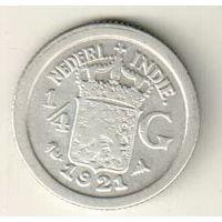 Голландская Индия 1/4 гульден 1921