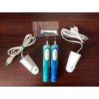 Две зубные щетки BRAUN oral-b Vitality 3709, б/у, в рабочем состоянии, питание от аккумулятора, 7600 оборотов в минуту.