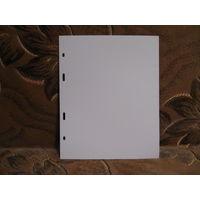 Прокладка в альбом MM-Schulz между листов на 12 холдеров, упаковка 10шт., белая.