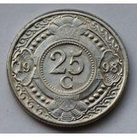 Нидерландские Антильские острова, 25 центов 1998 г.