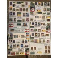 100 конвертов,Австрия спецгашение