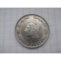 Эквадор 1 сукре 1980г.km78b