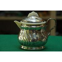 Чайник  -заварник  ( латунь с серебрением )