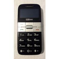 Мобильный Телефон MaxCom MM440BB, черный, бабушкофон, камеры нет, буквы - только латинские.