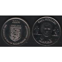 Official England Squad. Midfield. Paul Scholes -- 2004 England - The Official England Squad Medal Collection (f01)
