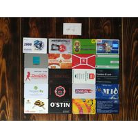 20 разных карт (дисконт,интернет,экспресс оплаты и др) лот 3