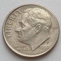 10 центов 1997 Р США - смещение чекана