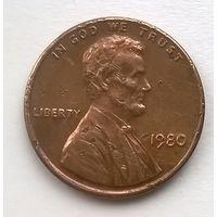 США. 1 цент 1980г.