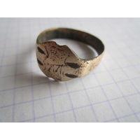 Крестьянский медный старинный перстенек