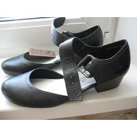 НОВЫЕ туфли TAMARIS, 40 размер, натуральная кожа, куплены в Польше
