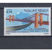[534] Марокко 1972.Мосты,дороги.